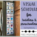 Visual Schedule For Toddlers   Free Printable Picture Schedule For Preschool