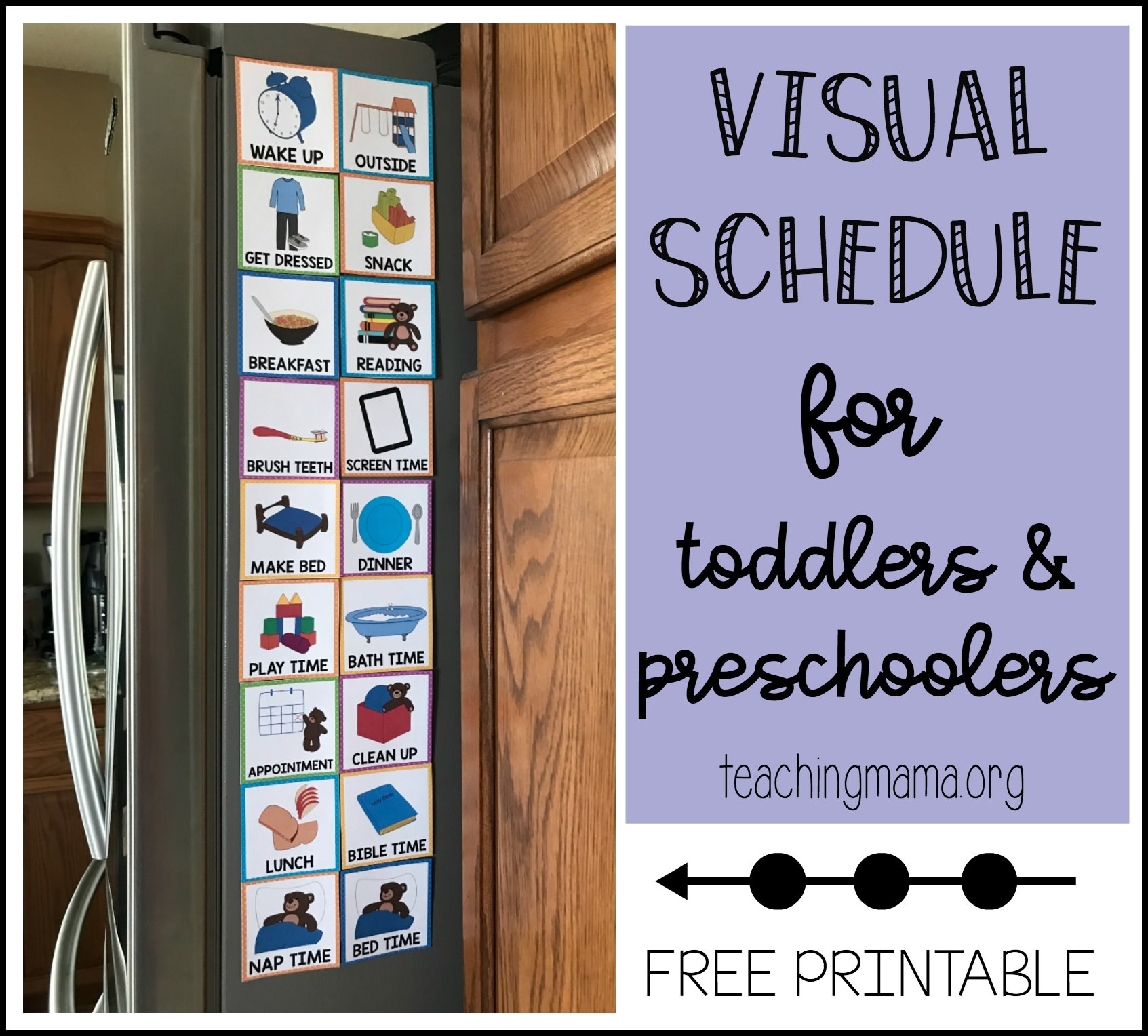 Visual Schedule For Toddlers - Free Printable Visual Schedule For Classroom