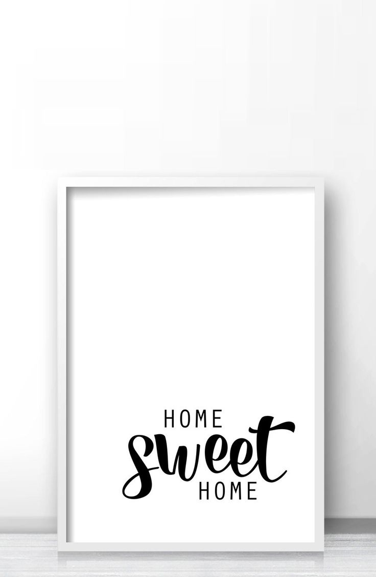 Wall Art Print Home Sweet Home, Instant Download Printable Art - Free Printable Artwork For Home