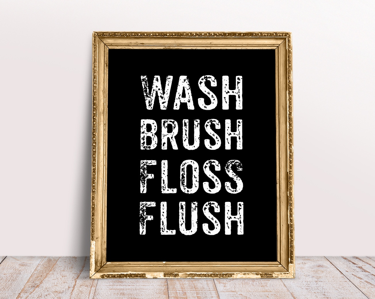 Wash Brush Floss Flush Bathroom Sign | Printablebazaar - Free Printable Do Not Flush Signs
