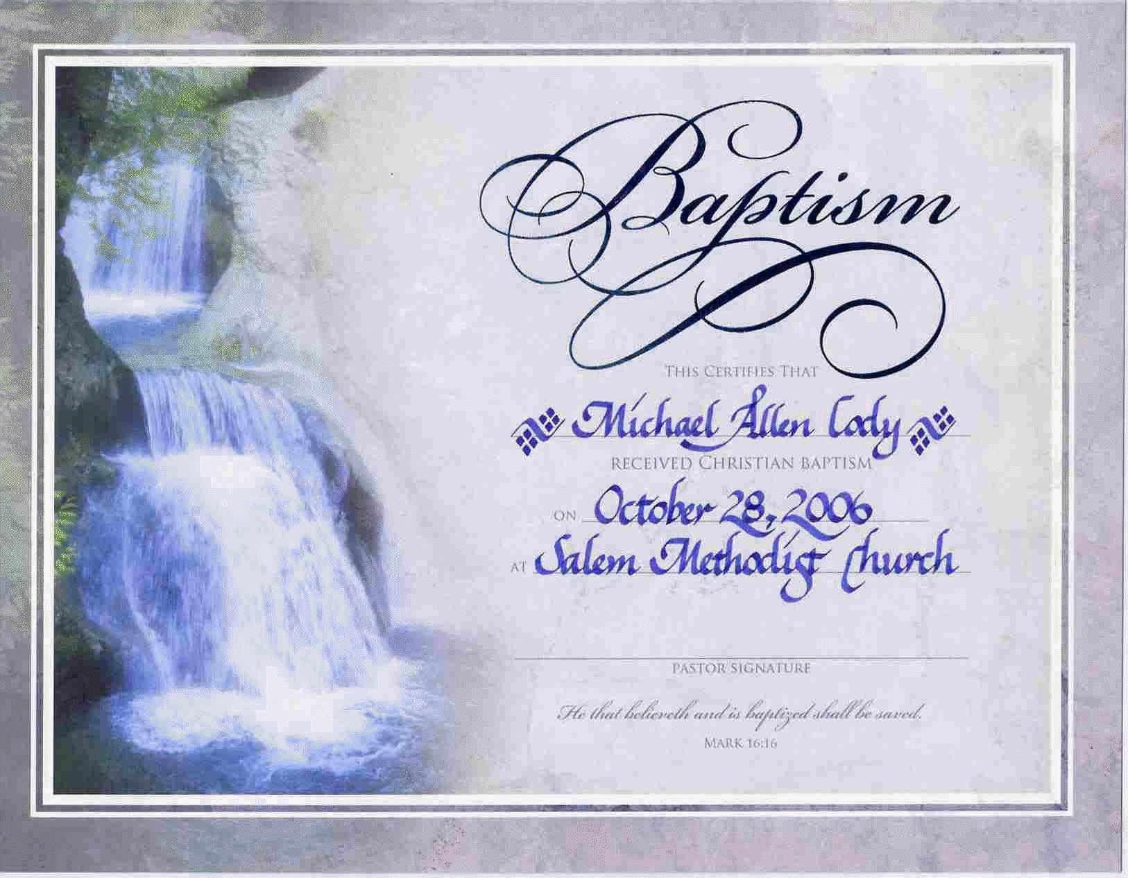 Water Baptism Certificate Templateencephaloscom Encephaloscom - Free Online Printable Baptism Certificates