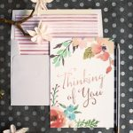 Watercolor Flower Thinking Of You Card   Lia Griffith   Free Printable Thinking Of You Cards