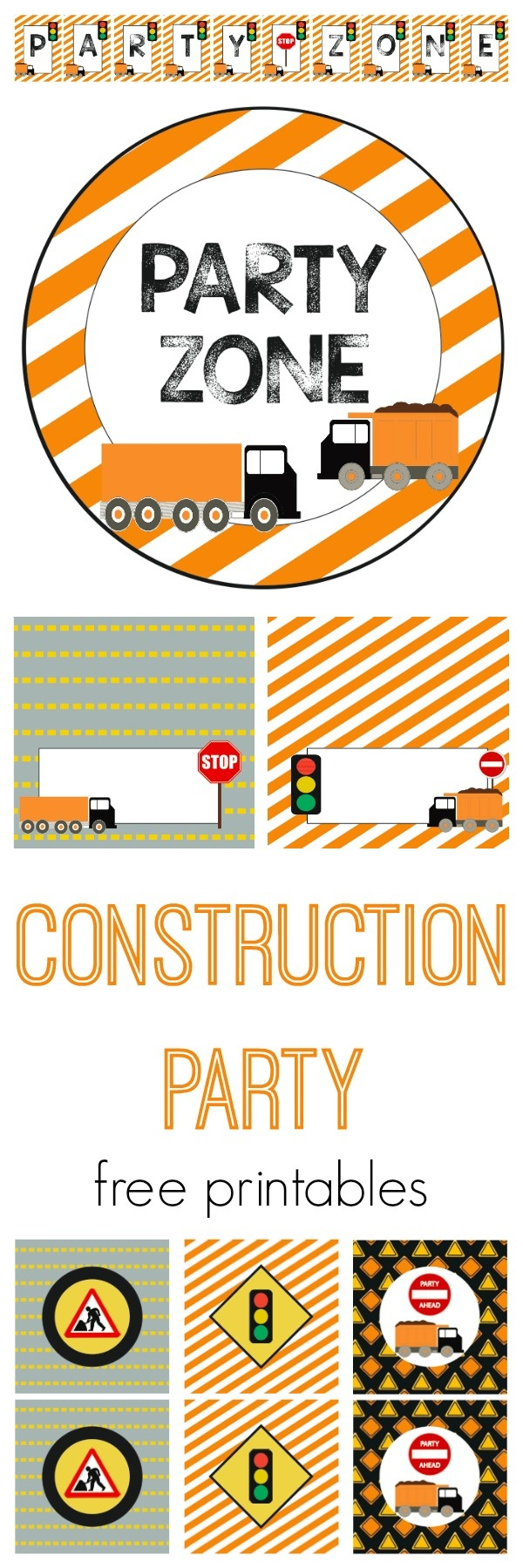 We Heart Parties: Free Printables Construction Party Free Printables - Free Construction Party Printables