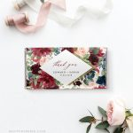 Wedding Chocolate Bar Wrapper Template, Printable Bridal Shower   Free Printable Candy Bar Wrappers For Bridal Shower