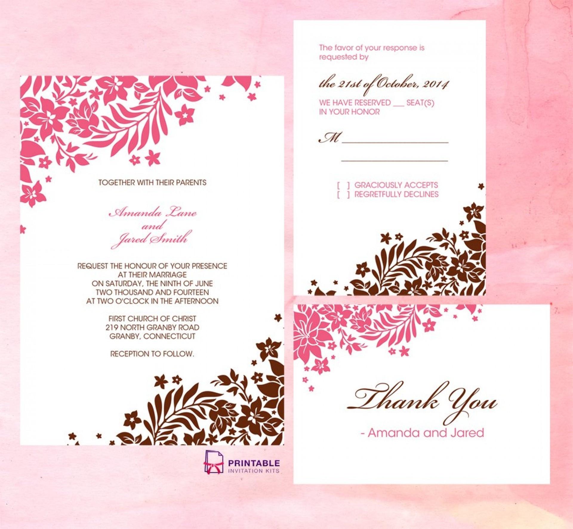 Wedding Invitation Templates Free Download Remarkable Free - Wedding Invitation Cards Printable Free