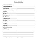 Wedding Party List Template Free | Fosterhaley Wedding Music List   Free Printable Wedding Party List