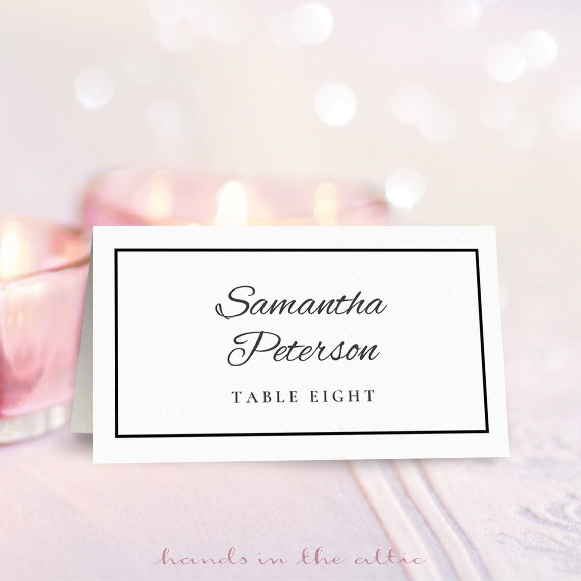 Wedding Place Card Template | Free On Handsintheattic | Free - Free Printable Place Cards Template