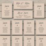 Wedding Seating Chart Template   Printable Seating Chart   Editable   Free Printable Wedding Seating Plan
