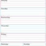 Weekly Planner Printable. Nice, Simple, Clean Lines. | School   Free Printable School Agenda Templates