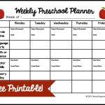 Weekly Preschool Planner {Free Printable}   Free Printable Pre K Curriculum