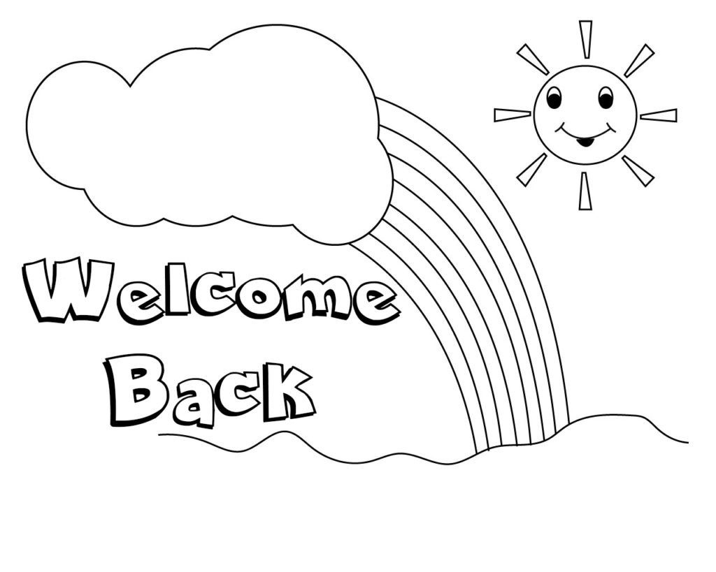 Welcome Back Coloring Pages To Print | Free Coloring Pages - Welcome Home Cards Free Printable
