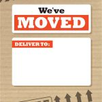 We've Moved Box   Free Printable Moving Announcement Template   We Are Moving Cards Free Printable
