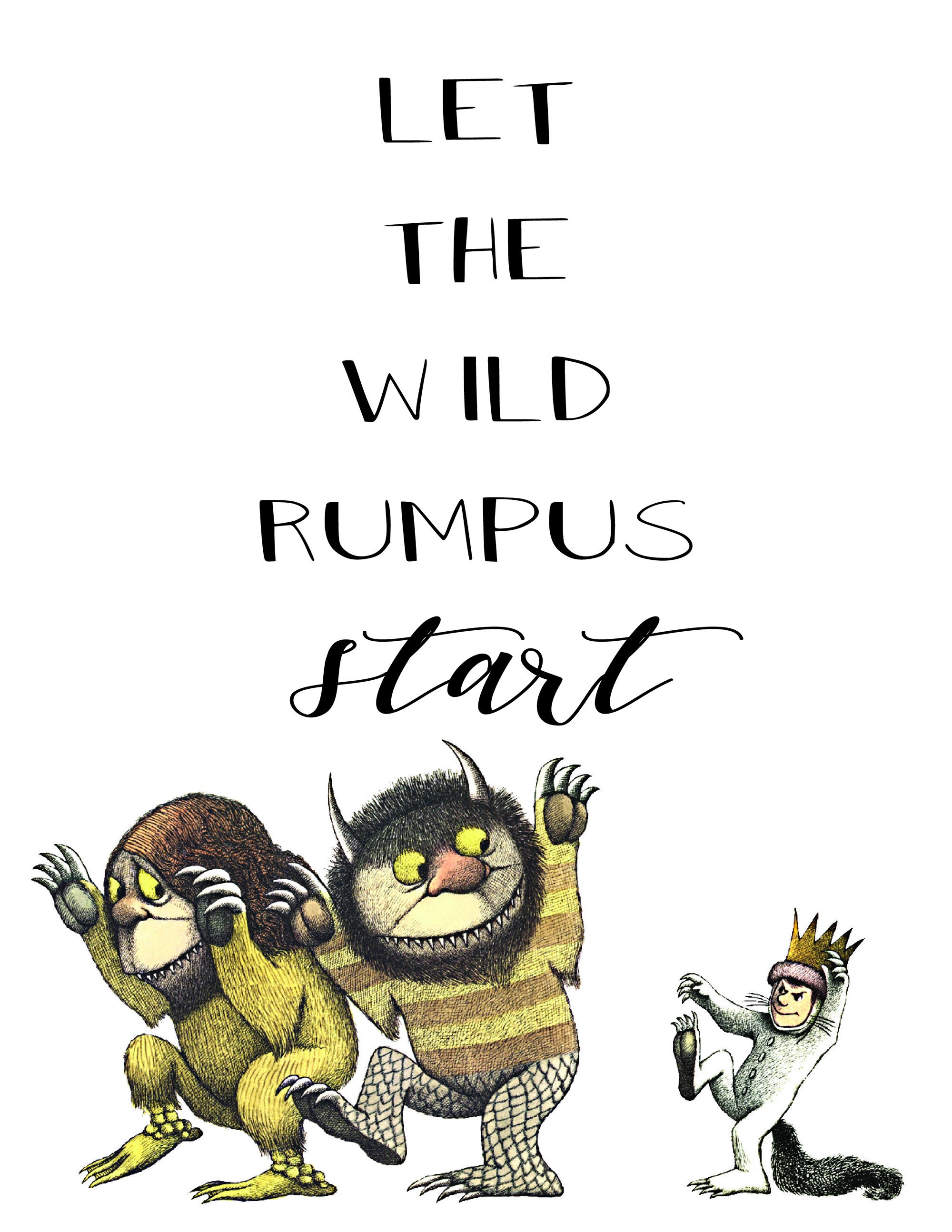 """Where The Wild Things Are"""" Party & Printables - The Okie Home - Where The Wild Things Are Printables For Free"""
