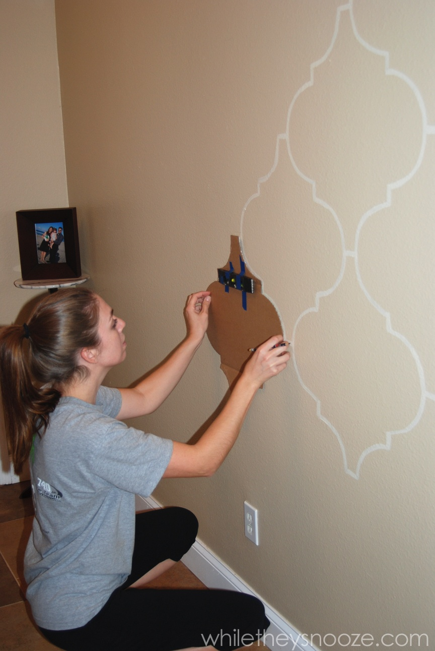 While They Snooze: Diy Moroccan-Style Wall Stencil Tutorial - Free Printable Moroccan Wall Stencils