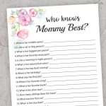Who Knows Mommy Best Printable Baby Shower How Well Do You | Etsy   Who Knows Mommy And Daddy Best Free Printable