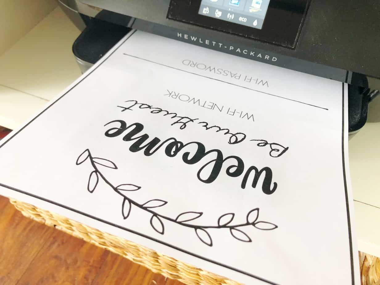 Wifi Network And Password Sign - Free Printable Download! - Free Wifi Password Printable