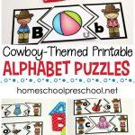 Wild West Themed Alphabet Puzzle Printables | Homeschooling Ideas   Free Printable Alphabet Puzzles