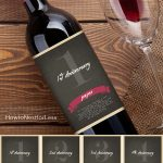 Wine Bottle Anniversary Labels Free Printable | Bloggers' Best Diy   Free Printable Wine Labels With Photo