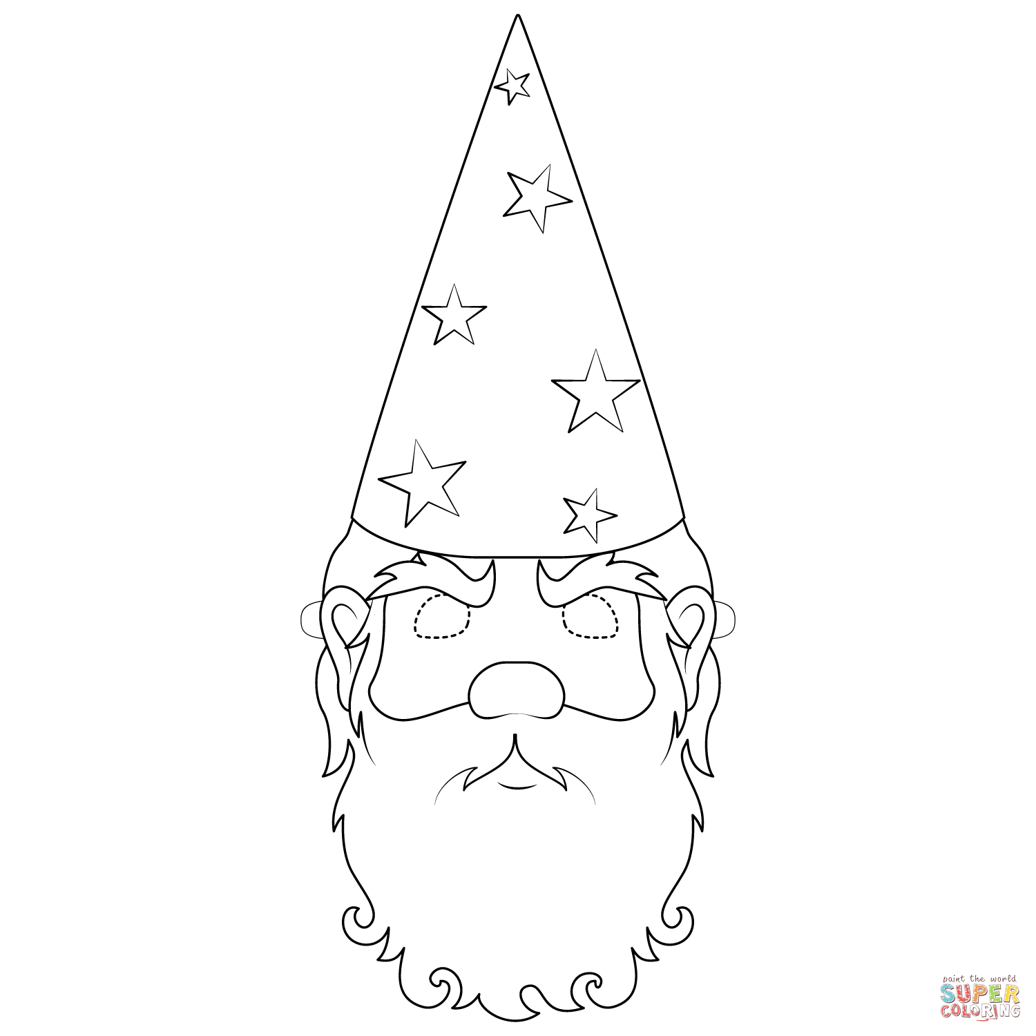 Wizard Mask Coloring Page | Free Printable Coloring Pages - Free Printable Wizard Of Oz Masks