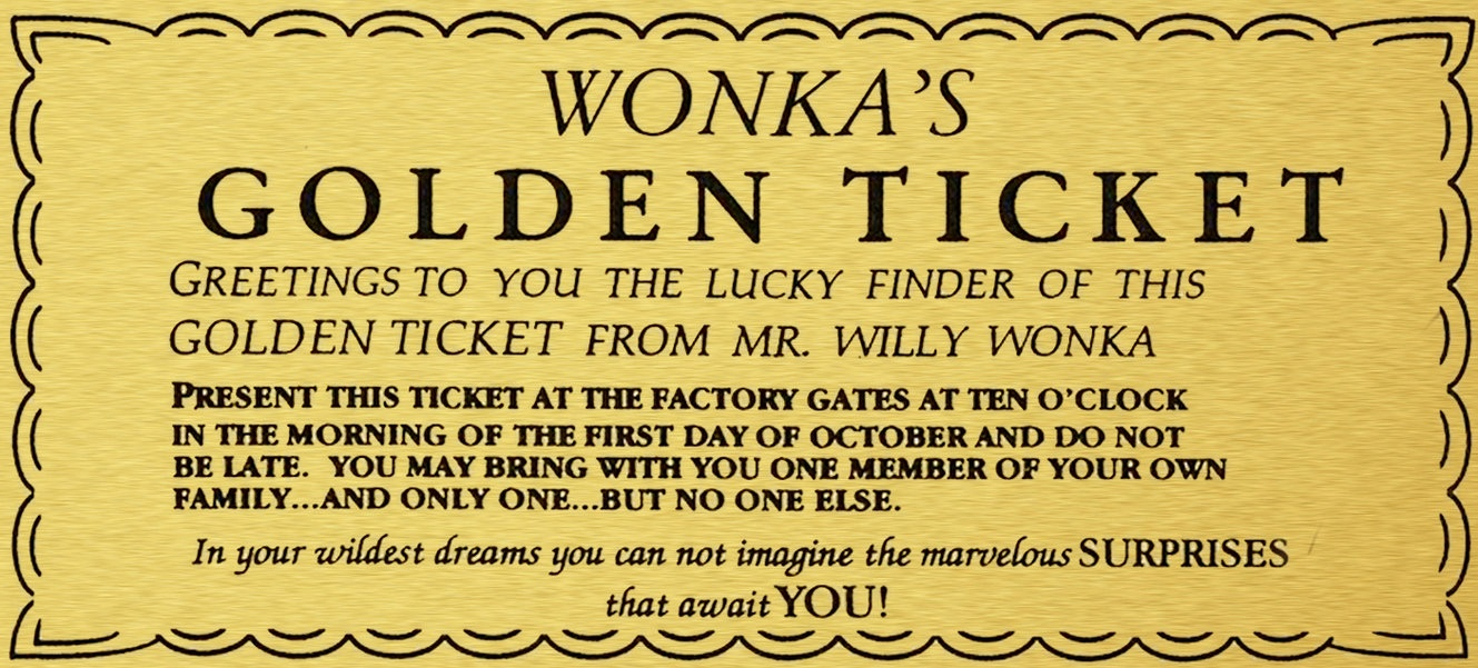 Wonka Golden Ticket Template Group With 68+ Items - Golden Ticket Printable Free