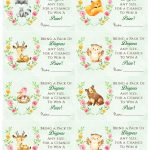 Woodland Animal Baby Shower Diaper Raffle. Free Printable | Birthday   Woodland Baby Shower Games Free Printables