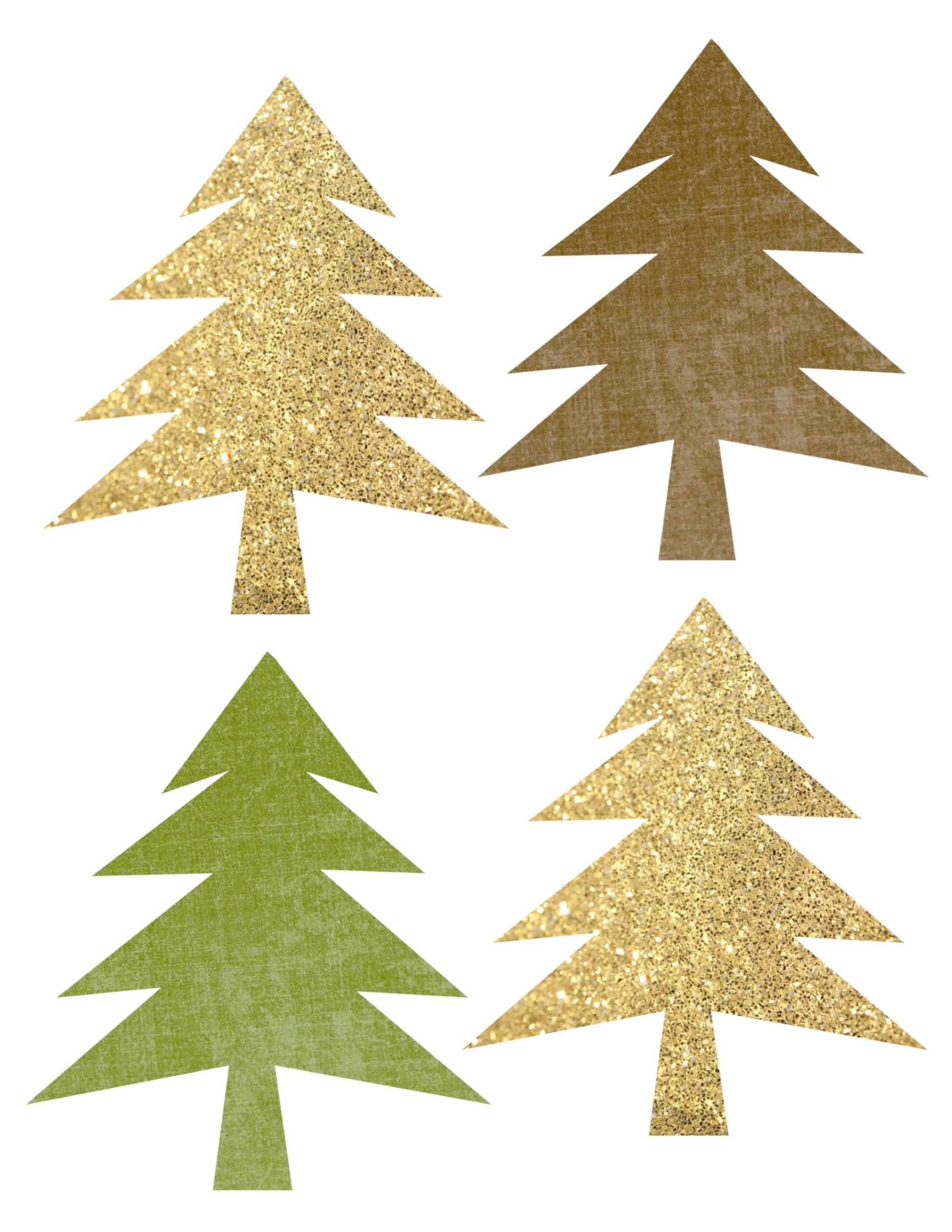 Woodland Tree Garland Free Printable Banner - Paper Trail Design - Christmas Garland Free Printable