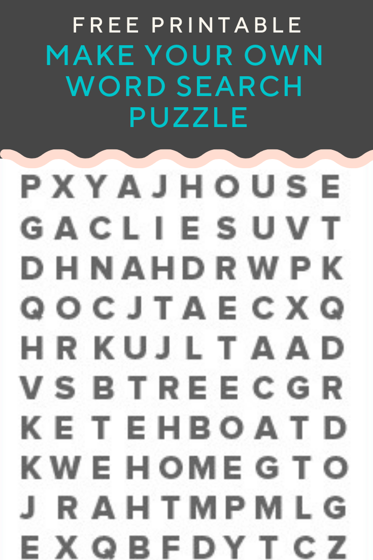 Word Search Puzzle Generator | Create And Print Fully Customizable - Word Search Maker Free Printable