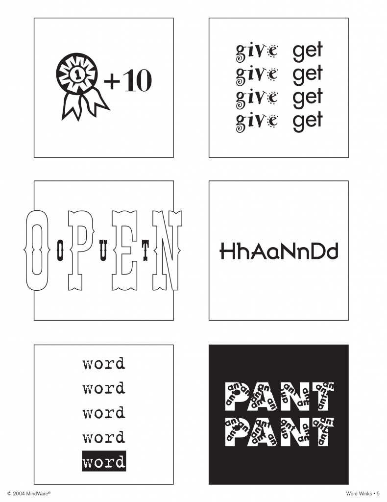Word Winks For Beginers Keyword Data - Related Word Winks For - Free Printable Word Winks