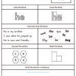 Words Worksheets Sight Words Worksheet For Kindergarten Pdf Sight   Free Printable Worksheets For Kindergarten Teachers