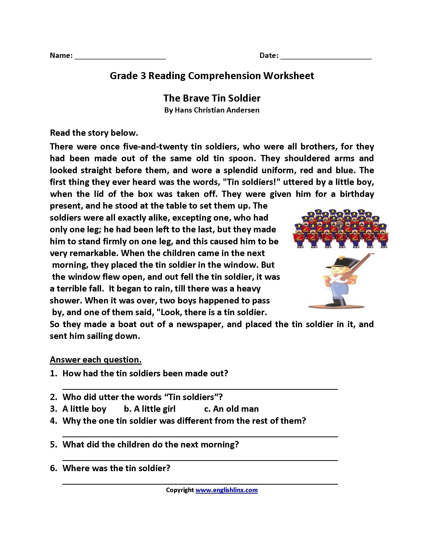 Worksheet : Free Reading Passages For 3Rd Grade Year English - Free Printable 3Rd Grade Reading Worksheets