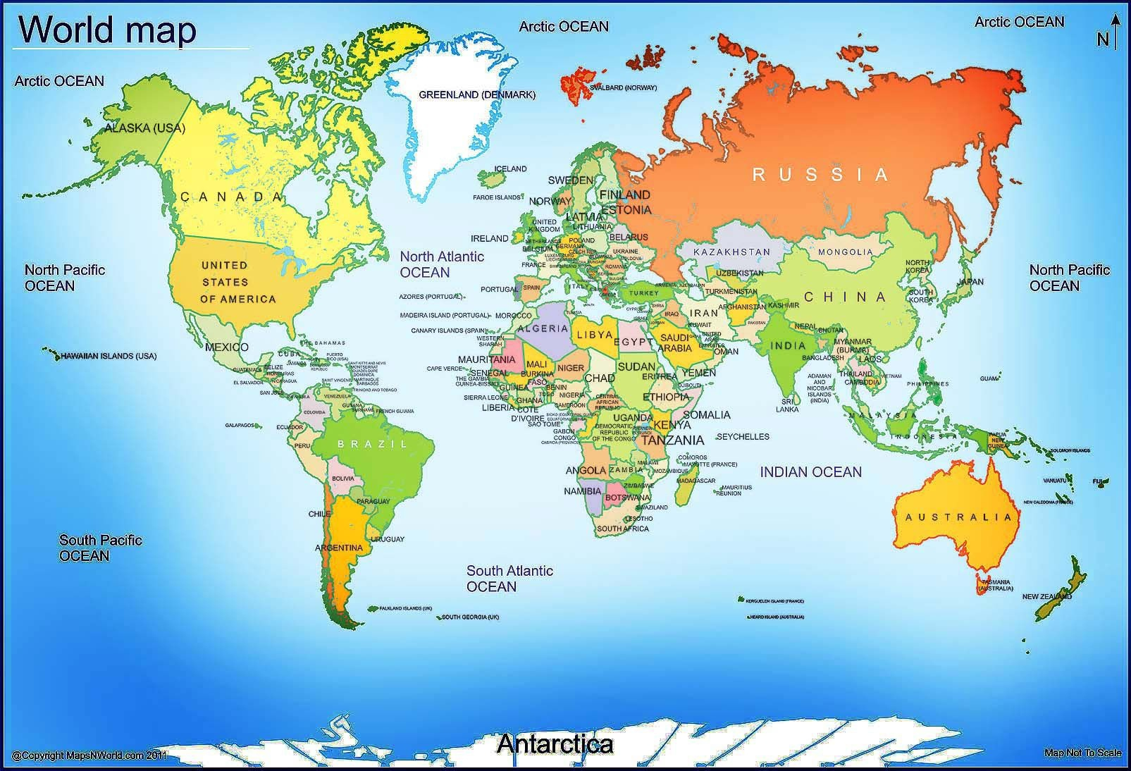 World Map - Free Large Images | Maps | World Map With Countries - Free Printable World Map Images
