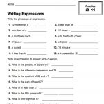Writing Expressions   Teachervision   6Th Grade Writing Worksheets Printable Free