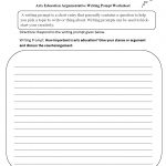 Writing Prompts Worksheets | Argumentative Writing Prompts Worksheets   6Th Grade Writing Worksheets Printable Free