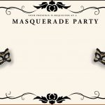Your Invited To The Masquerade Surprise Party For Cherry Pierre   Free Printable Masquerade Birthday Invitations