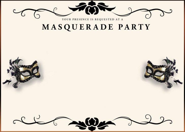 Free Printable Masquerade Birthday Invitations