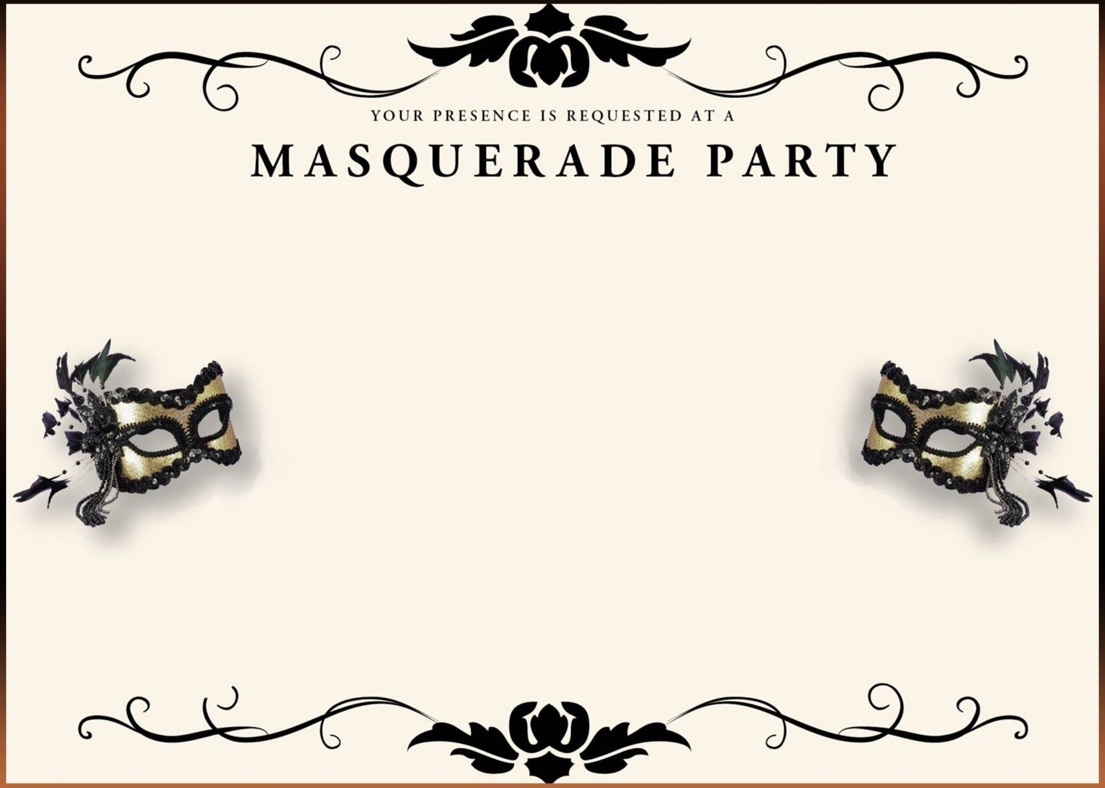 Your Invited To The Masquerade Surprise Party For Cherry Pierre - Free Printable Masquerade Birthday Invitations