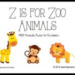 Z Is For Zoo Animals    Letter Z Printables   Free Zoo Printables For Preschool