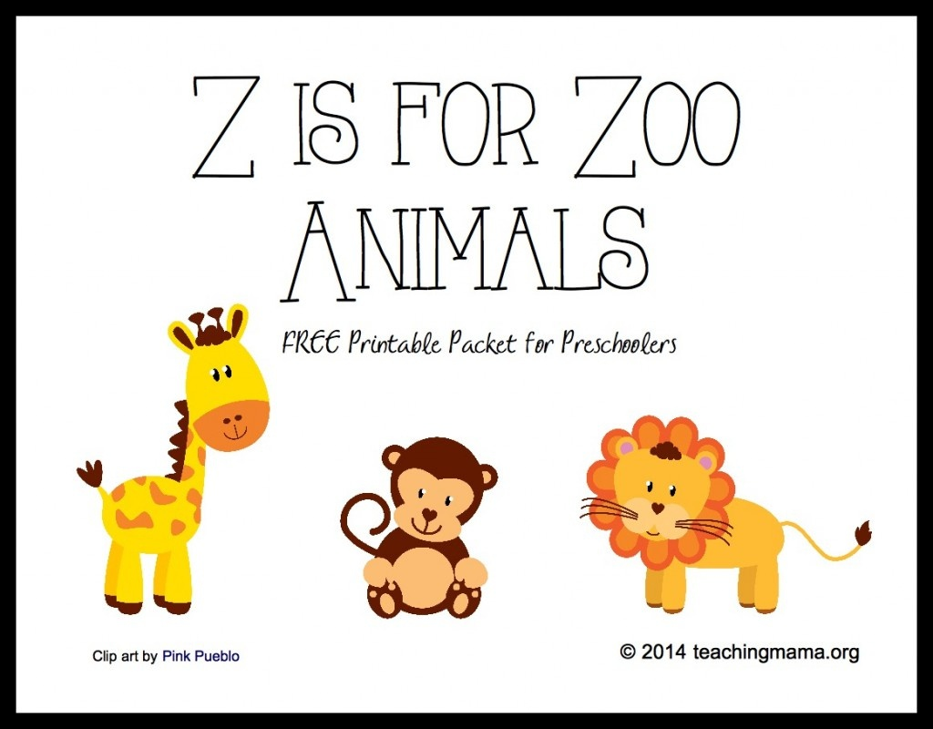 Z Is For Zoo Animals -- Letter Z Printables - Free Zoo Printables For Preschool