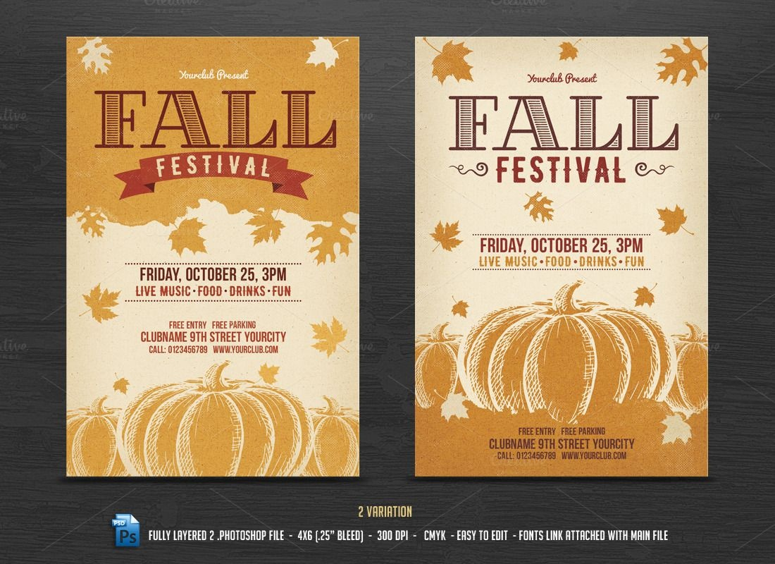 002 Fall Festival Flyers Templates Template Ideas Awful School Flyer - Free Printable Fall Flyer Templates