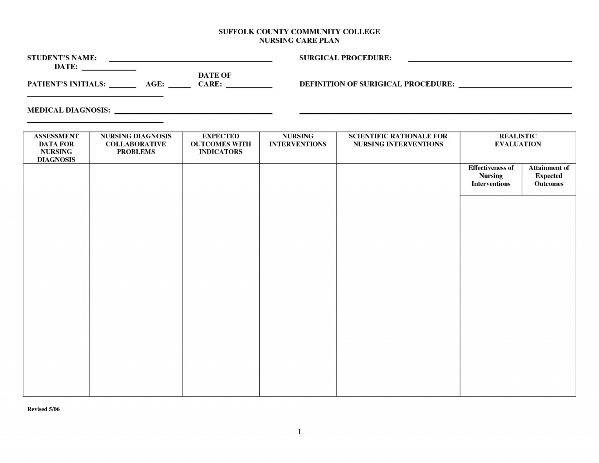 002 Nursing Care Plan Template Incredible Ideas Blank Pdf Plans - Free Printable Blank Nursing Care Plan