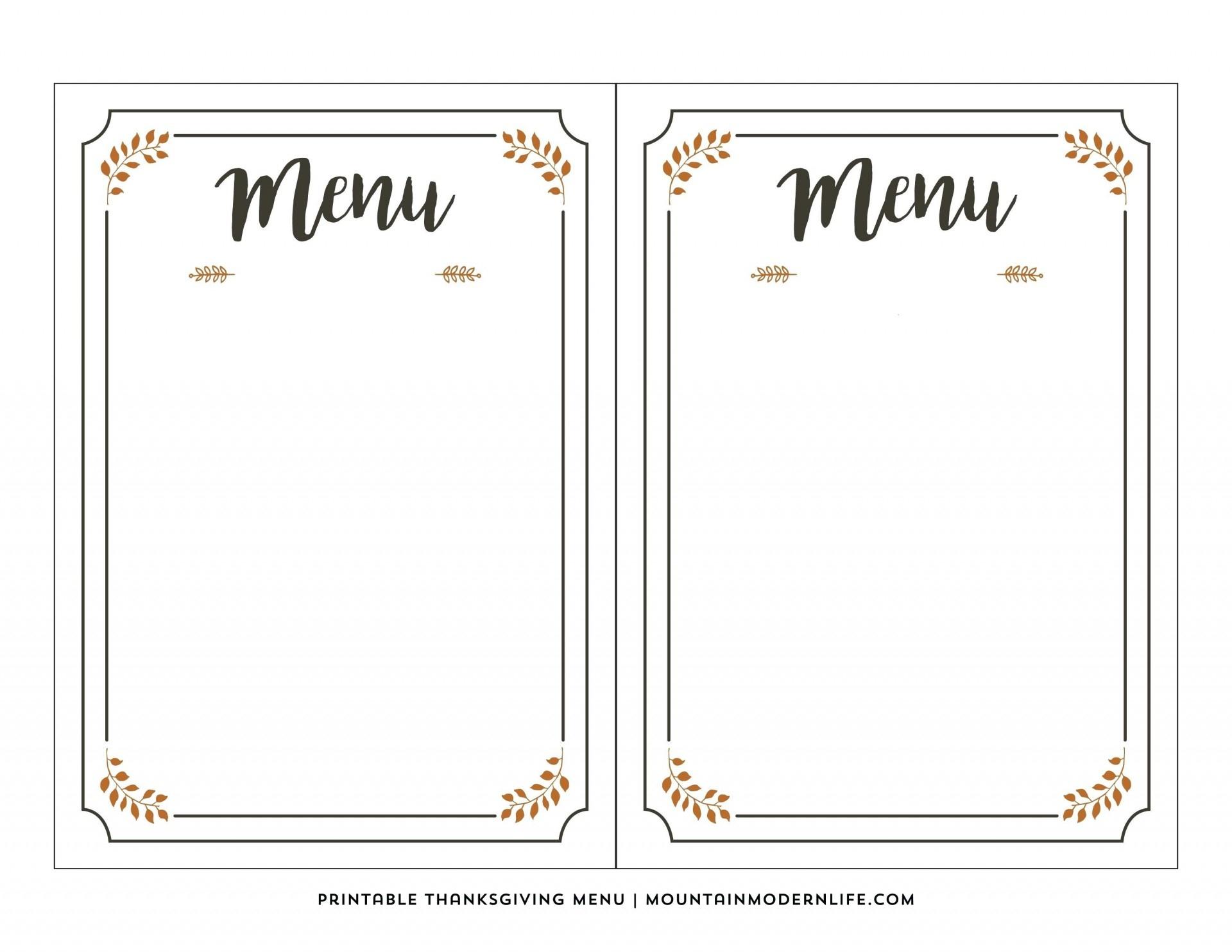 003 Free Printable Menu Template Templates For Kids New Awesome - Free Printable Menu