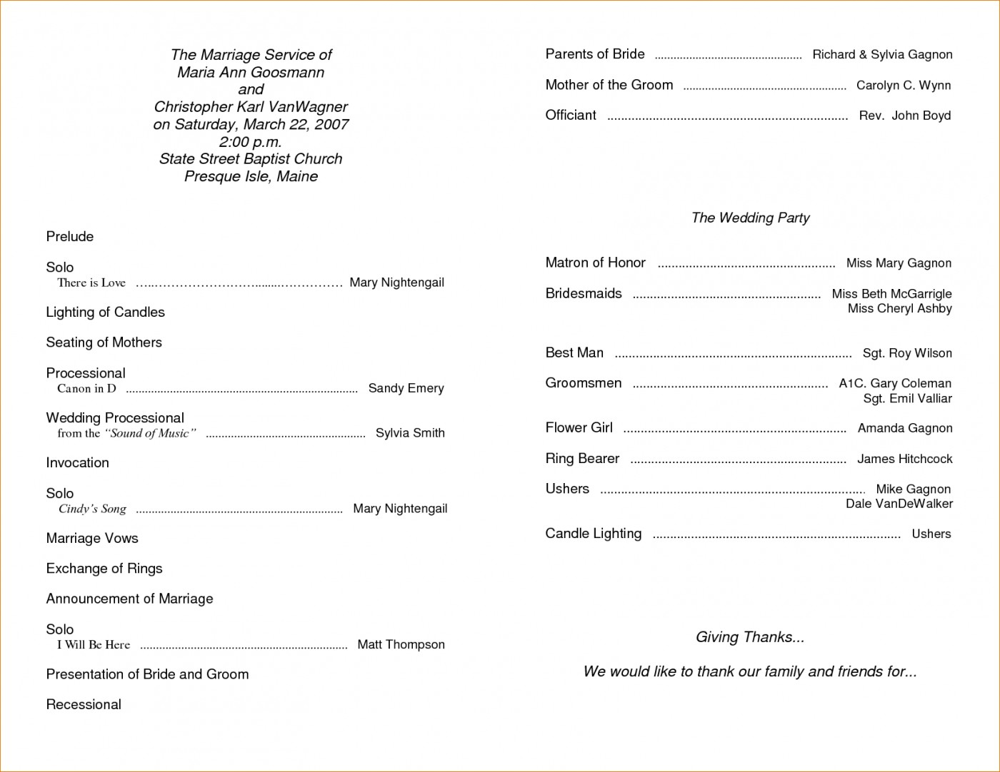 004 Free Printable Church Program Templates Template Ideas - Free Printable Church Programs