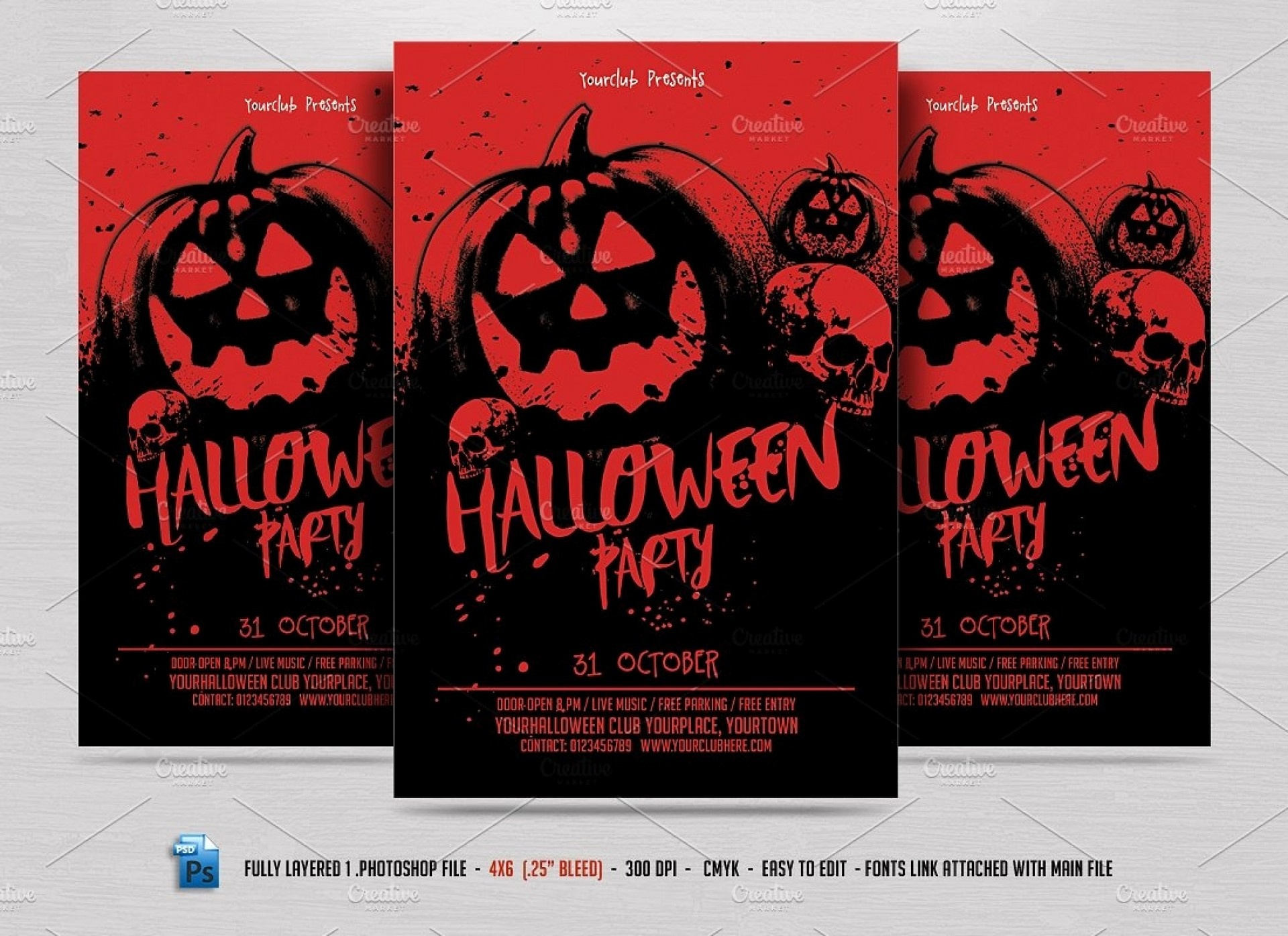 004 Template Ideas Free Halloween Flyers Wondrous Templates Editable - Free Printable Halloween Flyer Templates