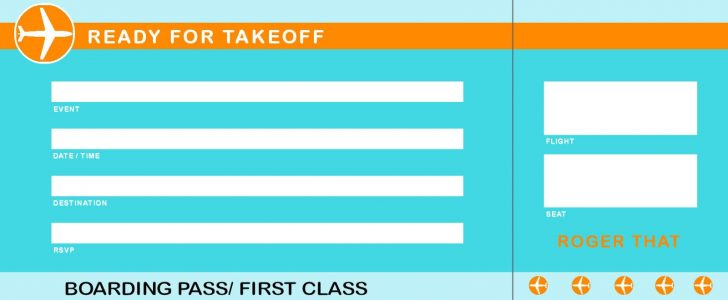 Free Printable Airline Ticket Template