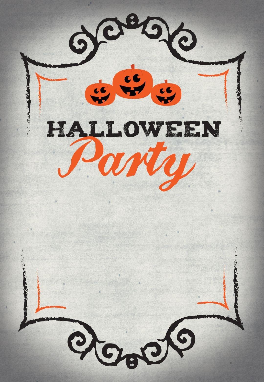 005 Free Halloween Invitation Template Marvelous Ideas Templates - Free Printable Halloween Wedding Invitations