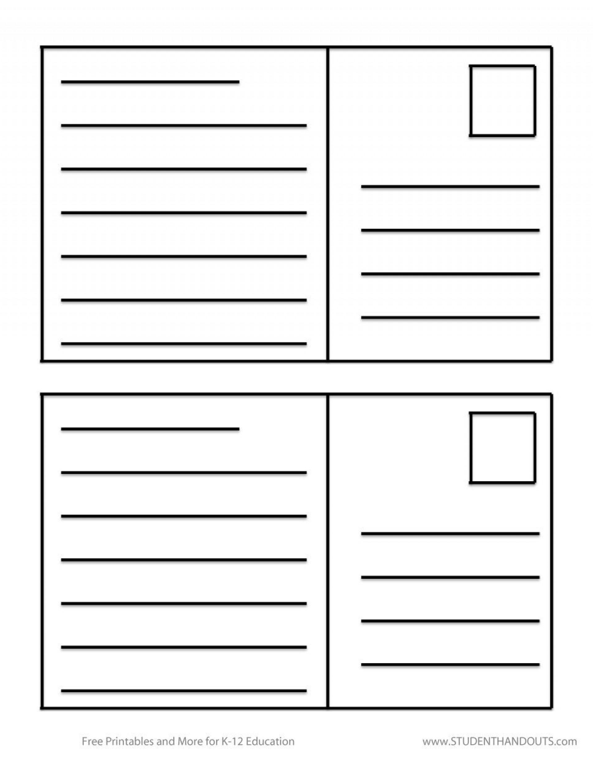 006 Free Printable Postcard Template Sample 7Ey22 Templates Imposing - Free Printable Postcard Template