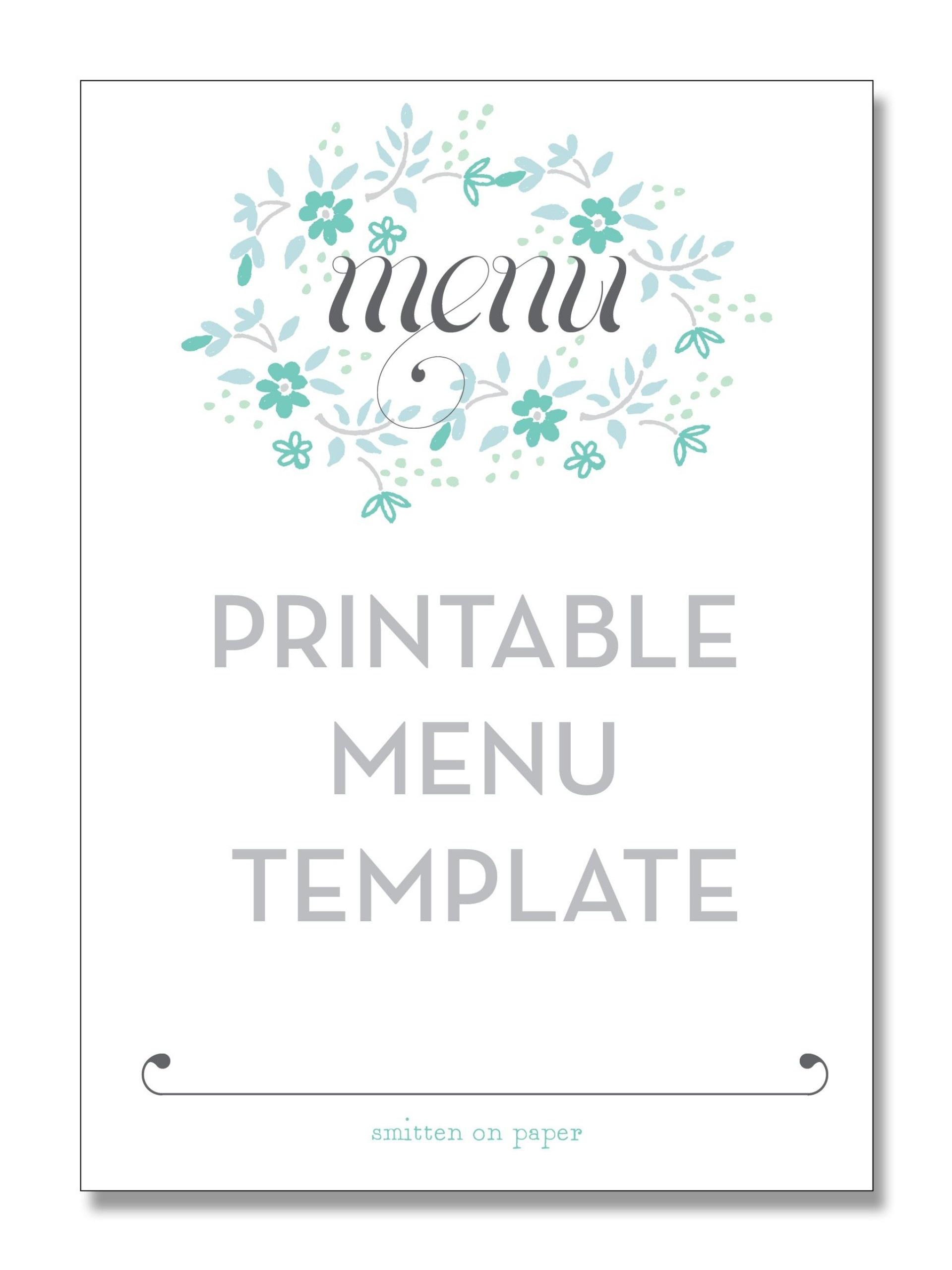 006 Menu Template Free Printable Staggering Ideas Wedding Card - Christmas Menu Printable Template Free