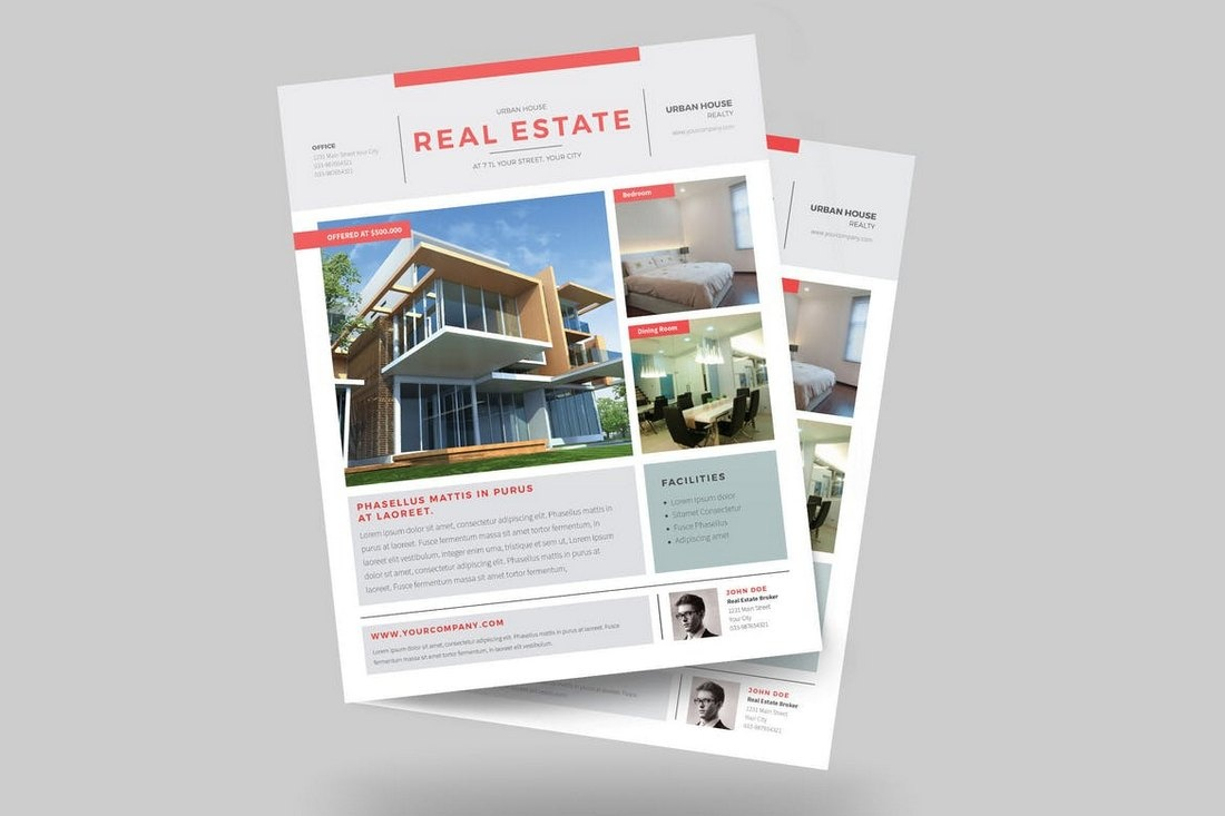 007 Urban Real Estate Flyer Template Incredible Ideas Property Free - Free Printable Real Estate Flyer Templates