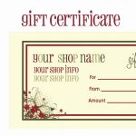 008 Template Ideas Free Printable Gift Certificate Christmas Word Or   Free Printable Gift Vouchers Uk