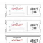 010 Free Printable Movie Ticket Template Picture Admit One Party   Free Printable Admit One Invitations